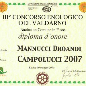 CONCORSO ENOLOGICO VALDARNO 2010 CAMPOLUCCI