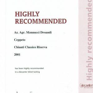 DECANTER WINE TASTING 2001