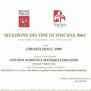 SELEZIONE DEI VINI DI TOSCANA CHIANTI 1999